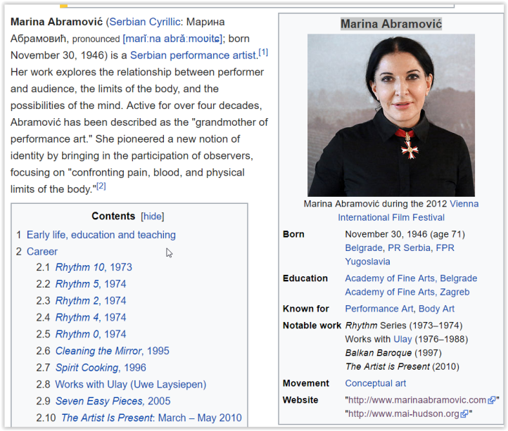 Who is Marina Abramovic? - Elemi Fuentes