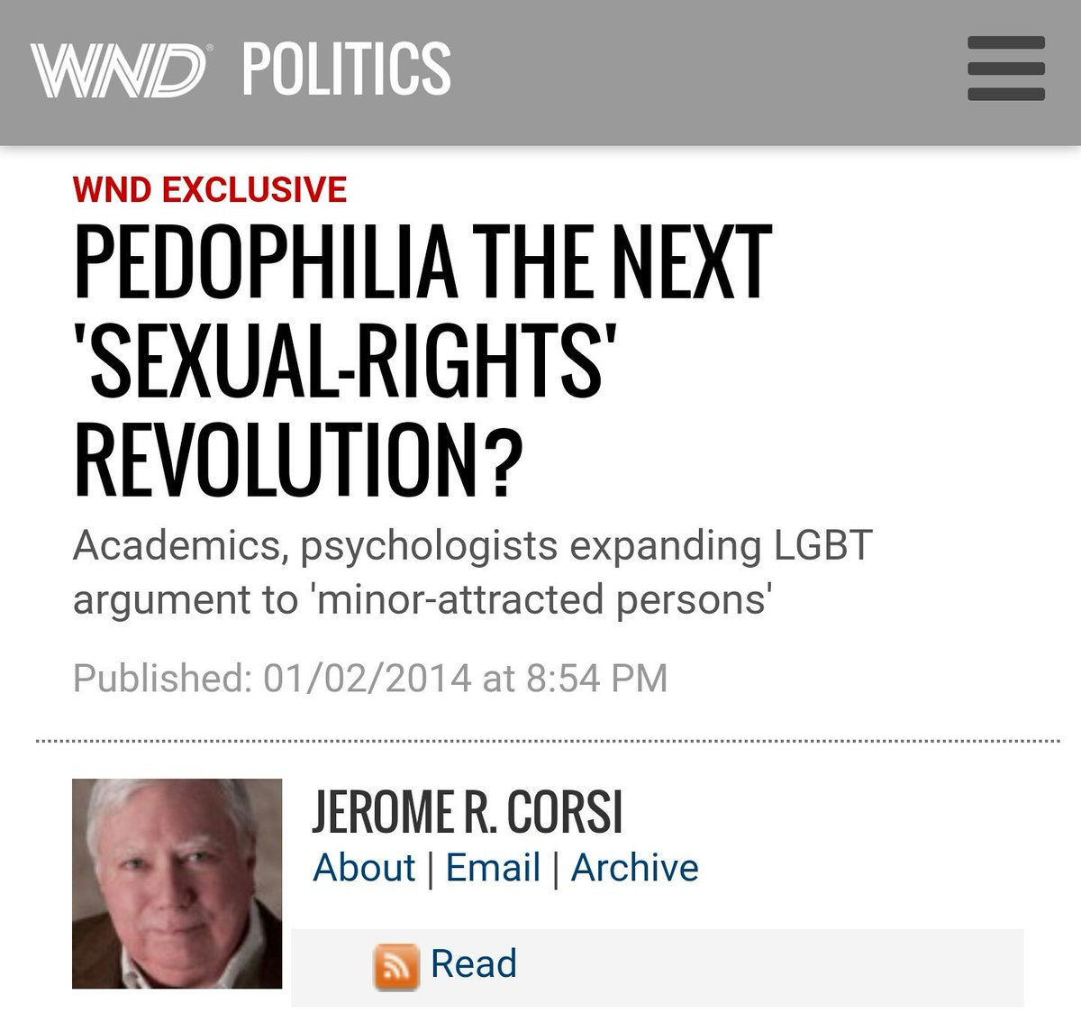 pedo-normalisation in the media