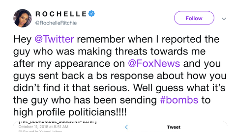 reporting death threats on twitter