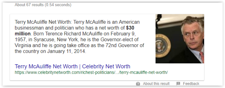 Terry McAuliffe connections to red hen lexington virginia