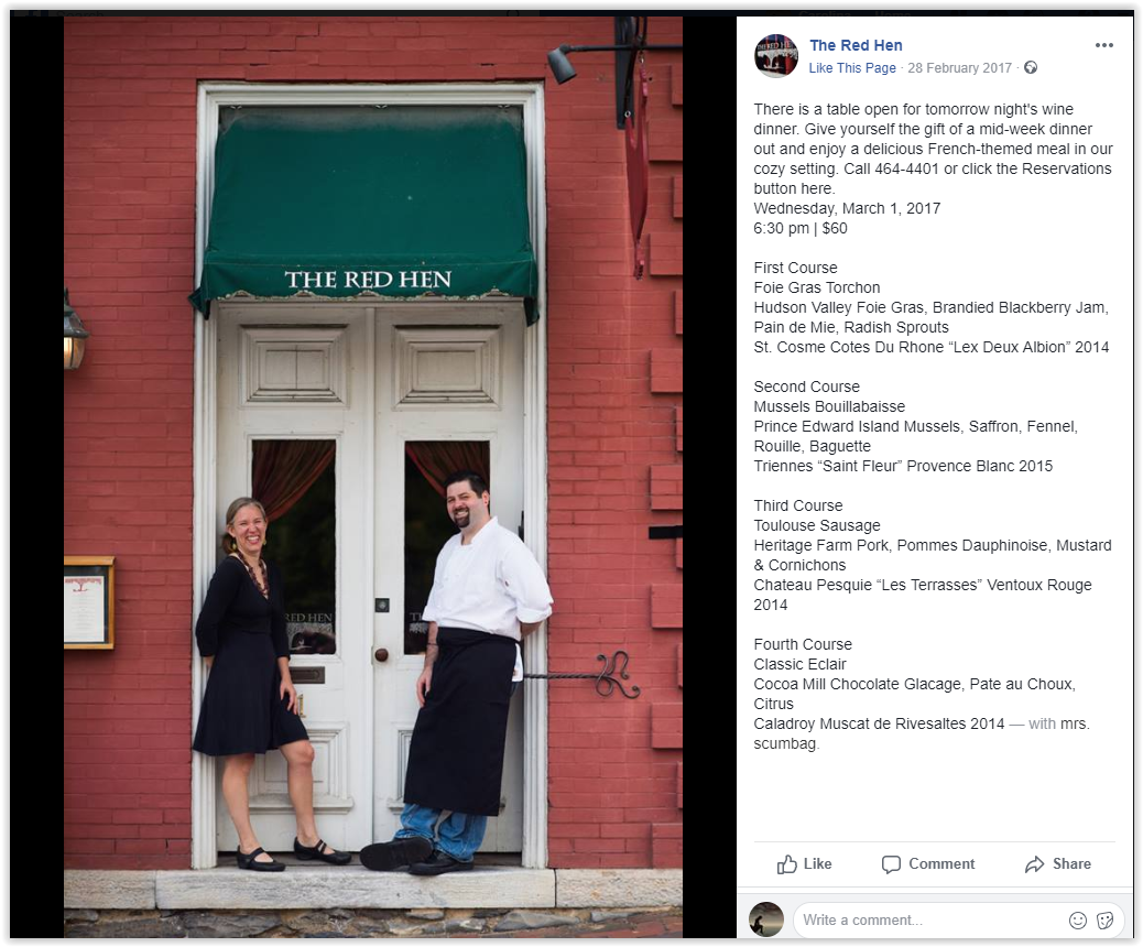 Chef Becca Adams - Becca Norris - Red Hen, setting the record straight - lexington, Virginia, Elemi fuentes - Matt Adams - Red Hen