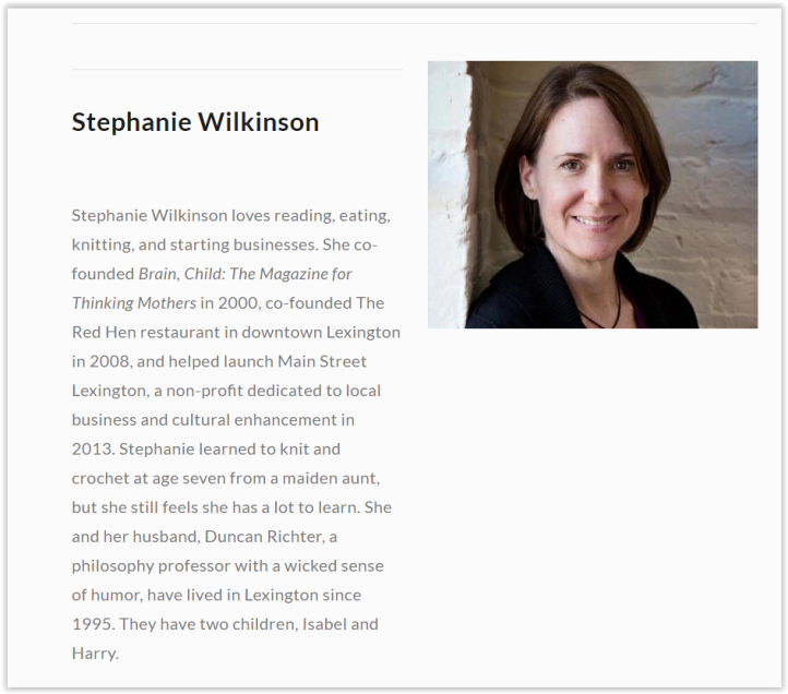 Miss Wilkinson was also part of the leadership (executive director) of Lexington local business group 'Main Street Lexington'. - Red hen part 1, setting the record straight, stephanie wilkinson, elemi fuentes