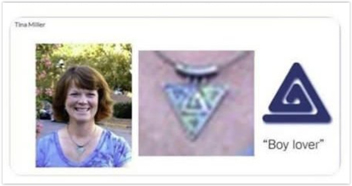 Tina Miller pedophile jewelry necklace - Main Street Lexington local business association group - Red Hen