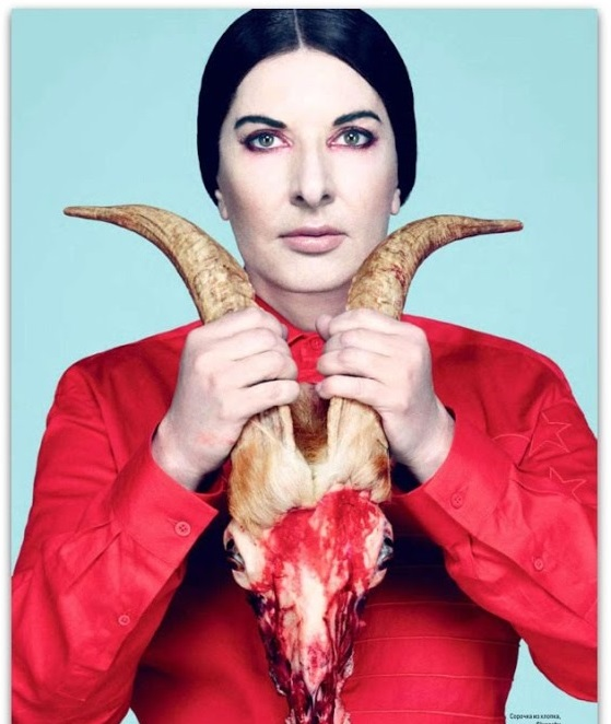 Marina Abramovic Red Goat Blood Sacrifice