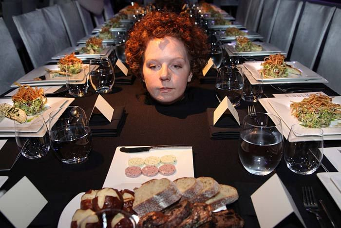 Marina Abramovic 2011 MOCA Gala cannibal dinner spirit cooking