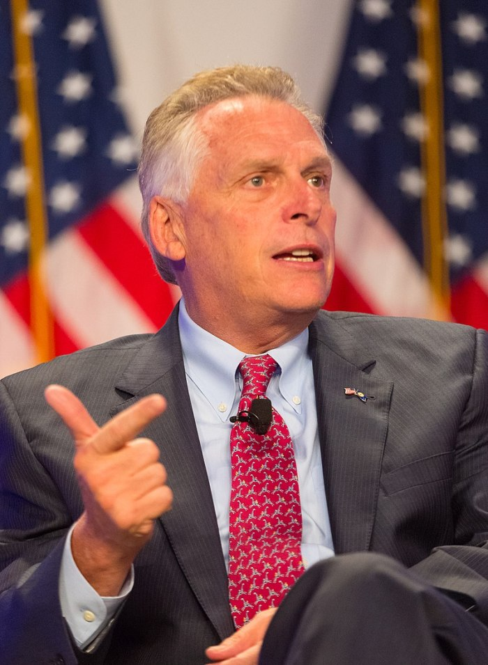 Former Virginia Governor Terry McAuliffe
