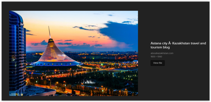 Astana, Kazakhstan, the capital of the NWO