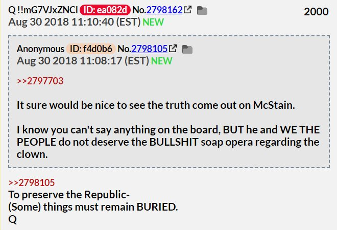 To preserve the Republic - Qanon post