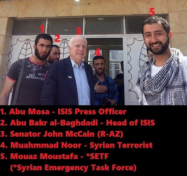 McCain i-Hillary Clinton's top aide, Huma Abedin and her connections to al-Qaeda, to ISIS, to Hamas, to Taliban, to International Islamic Relief Organization, to Muslim World League & to The World Assembly of Muslim Youth