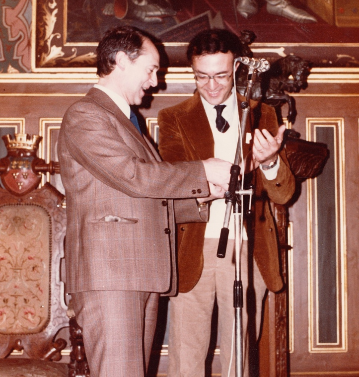 Prof. Santilli at the reception of the Gold Medal for Scientific Achievements by the University of New Orleans on January 7, 1982, Orleans, France.