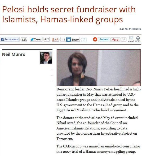 pelosi-hamas -McCain i-Hillary Clinton's top aide, Huma Abedin and her connections toal-Qaeda, to ISIS, to Hamas, to Taliban, to International Islamic Relief Organization, to Muslim World League & to The World Assembly of Muslim Youth
