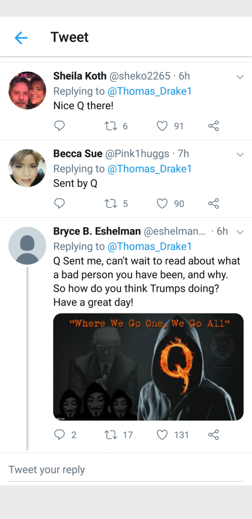 Qanon sent me cult-like mentality - think for yourself - Elemi Fuentes