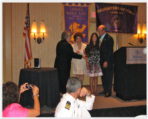 Prof. Santilli at the reception of a Scientific Award granted by the Sons of Italy on June 6, 2010, Tampa Florida.