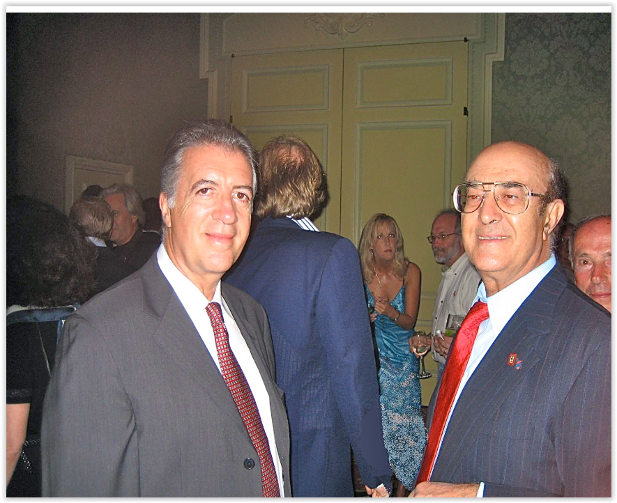 On January 22, 2002, during a Ferrari Meeting in West Palm Beach, Florida, Prof. Santilli meets Franco Lardi Ferrari, the son of Enzo Ferrari, to discuss the environmental problems caused by gasoline combustion and the new technologies needed for their resolution.