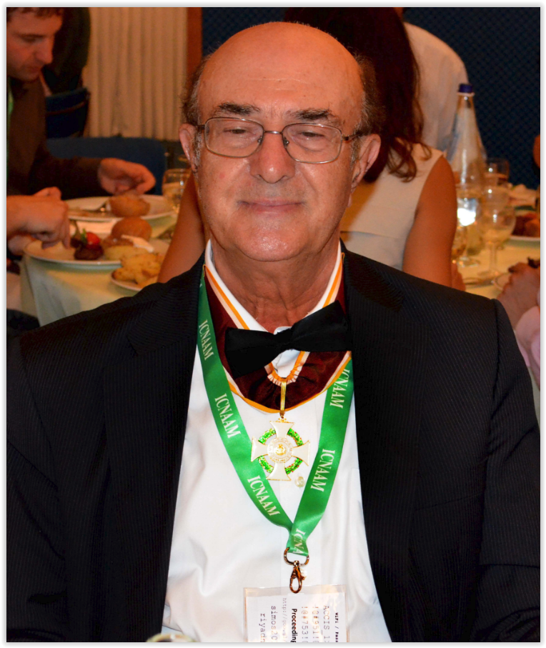 Prof. Santilli while wearing the Grand Cross.