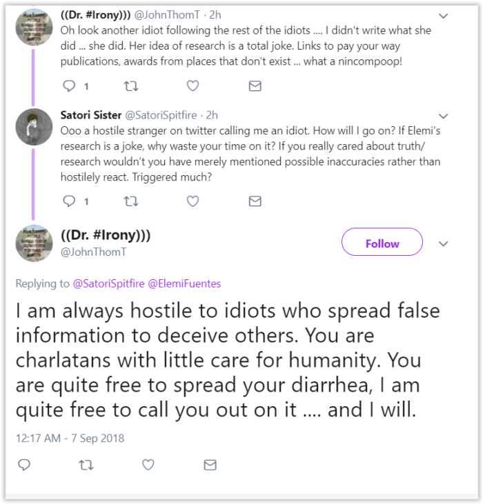 Mr. Concerned Troll on Twitter has no arguments - Elemi Fuentes
