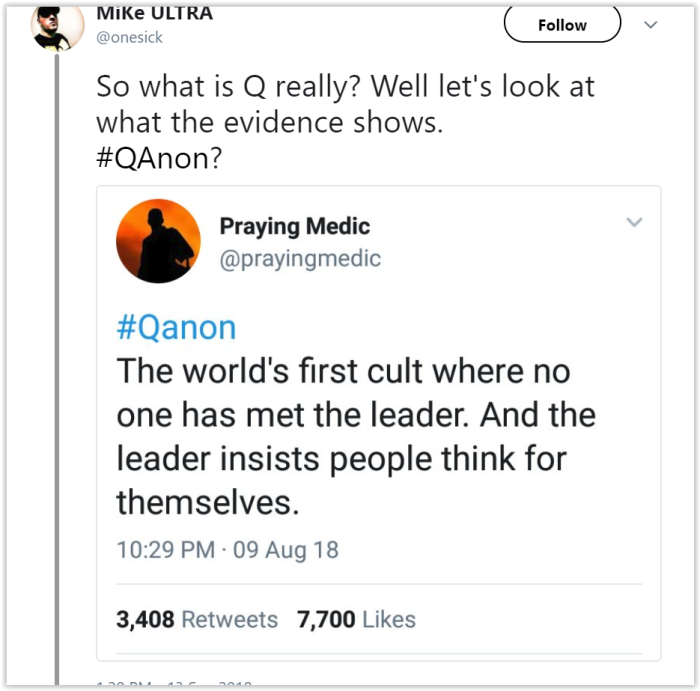 praying medic fraud qanon is a cult