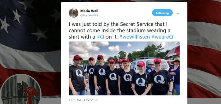 Secret services stops qanon conspiracy theorist from entering trump's rallies