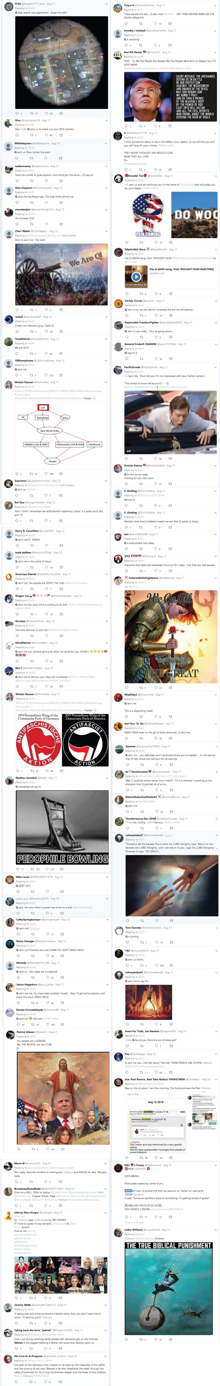 Satan parody attacks gets attacked by qanon mob mentality - Elemi Fuentes