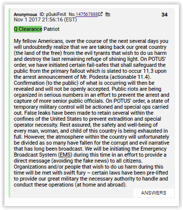 Q clearance patriot busted