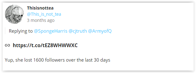 Qanon mobs argue a follower count implies better sources and information