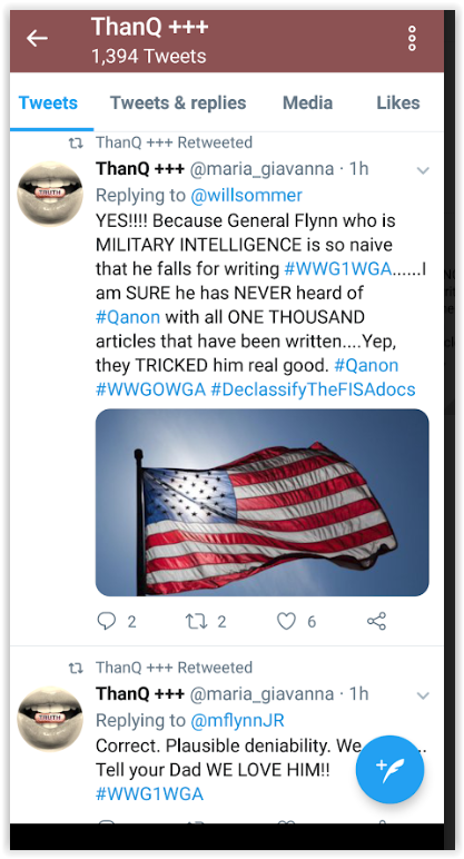 Qanon followers know better than Michel Flynn Junior told Qanon qultists qunts that his father had nothing to do with qanon and to stop pushing conspiracy theories