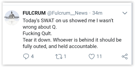 Angry qanon mob gang-stalk unsuspected individuals for question the plan laid out on 8chan by larper trolls - Elemi Fuentes