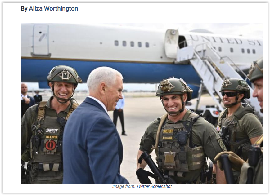 Vice-President Mike Pence qanon swat officer demoted over Q conspiracy theory