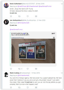And predictably, the Q community that clearly think for themselves went onto the attack. - Qanon mob attacks Avenatti - Q sent me threats