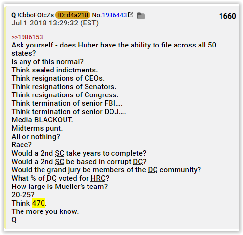 Qanon suggested to be a team of over 400 prosecutors headed by John Huber of Utah, who was appointed by Sessions is another lie - Qlies - FollowTheLarp- Elemi fuentes