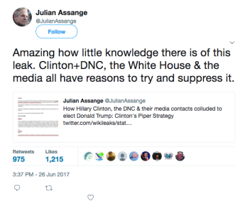 Julian Assange Clinton DNC leak