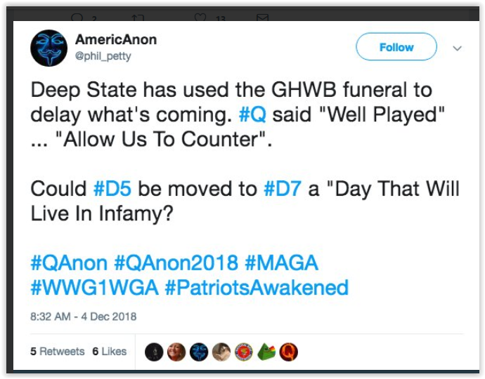 d5 moved to d7 qanon failed prediction