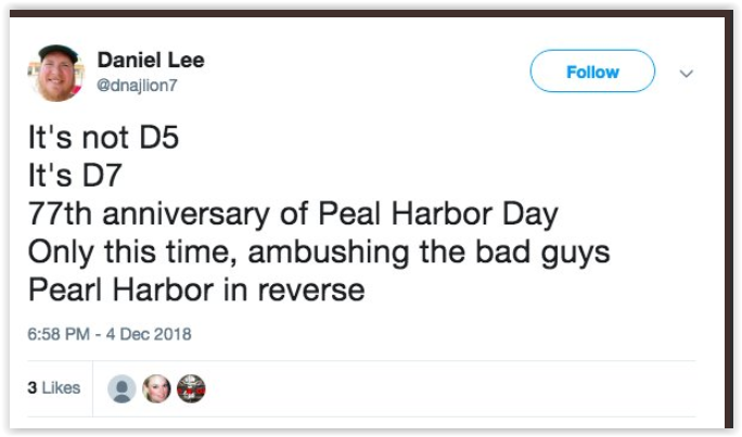 d5 failed prediction qanon is d7 pearl harbour day