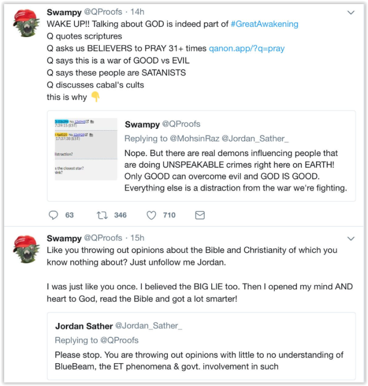 qanon promoters push for New world order - one currency- one religion - martial law