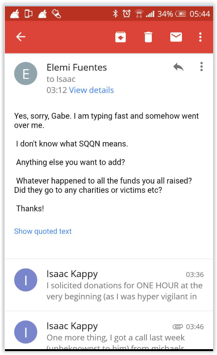 Elemi Fuentes to Isaac Kappy - email 3