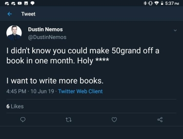 Dustin Nemos - Qanon book - patriots don't do it for the money- qanon is cancer - q scam