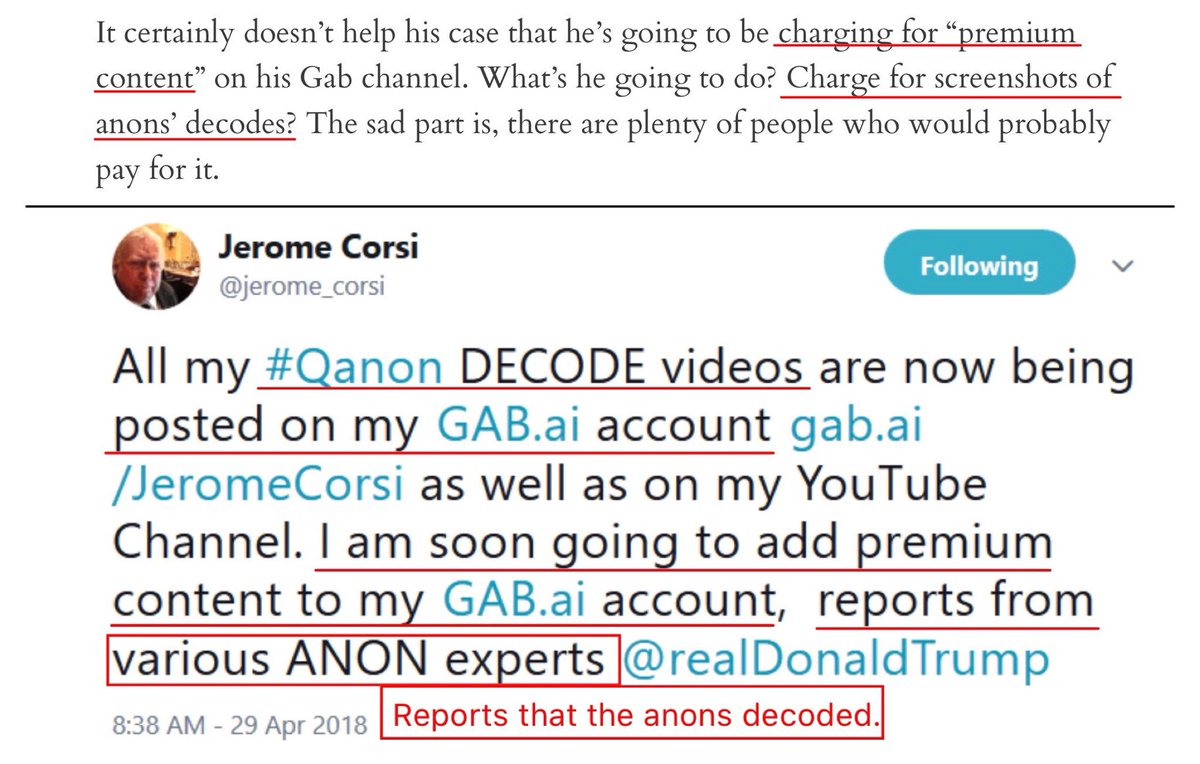 Jerome Corsi making money off qanon