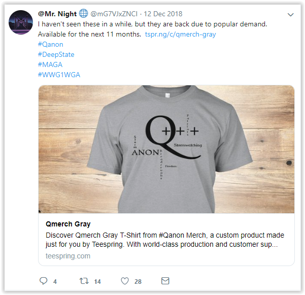@mG7VJxZNCI - Mr. Night - Patriots don't do it for the money- Qanon posts - I am Q twitter account