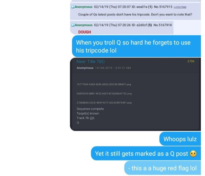 Qanon posts - qanon bakers discuss the posting of Qdrops - breadcrumbs