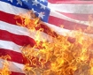 burning-american-flag