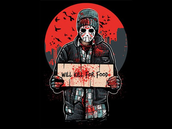 Kill-For-Food-buy-t-shirt-design - 3 meals away from Anarchy